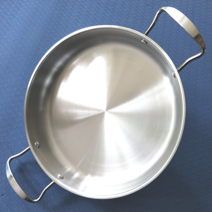 Inside diameter 28cm,Non-coating Stainless Steel Fry Pan Griddles & Grill Pans.(Dia:28cm)