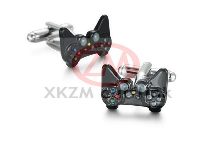 20pairs lot New Arrival Men s Fashion Cufflinks Black Color Novelty GamePad Joystick Design Cuff Links