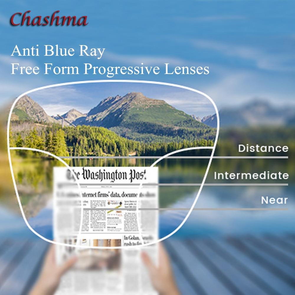 Progressive Eye Lens Free Form Anti Blue Ray lentes for Eyes Prescription 1 56 index 1