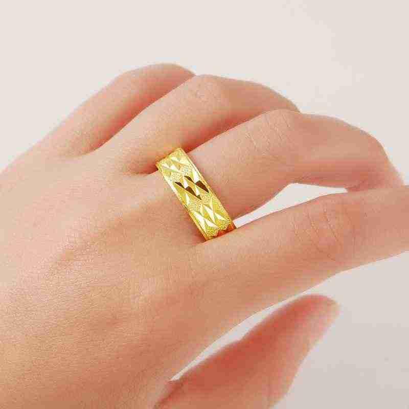 Nouveauté!! Mode 24k GP couleur or hommes et femmes bijoux bague en or jaune or anneau de doigt vente chaude YHDR014