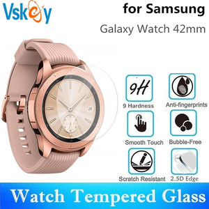 Image 1 - VSKEY 100PCS Tempered Glass For Samsung Galaxy Watch 42mm Screen Protector D30.5mm Sport Smart Watch Protective Film