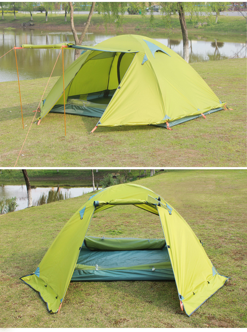 FLYTOP Outdoor Camping Tent For Rest Travel 2 Persons 3 Double Layer Windproof Waterproof Winter Professional Camp Tourist Tent (19)