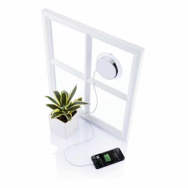 100% Оригинальный XD Окно палкой Порт Солнечное Зарядное Устройство 1000 мАч USB кабель для мобильного телефона, Окна порт присоски солнечной энергии банк USB зарядное устройство