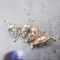 han edition abstract fashion bow brooch alloy plating high end women's corsage