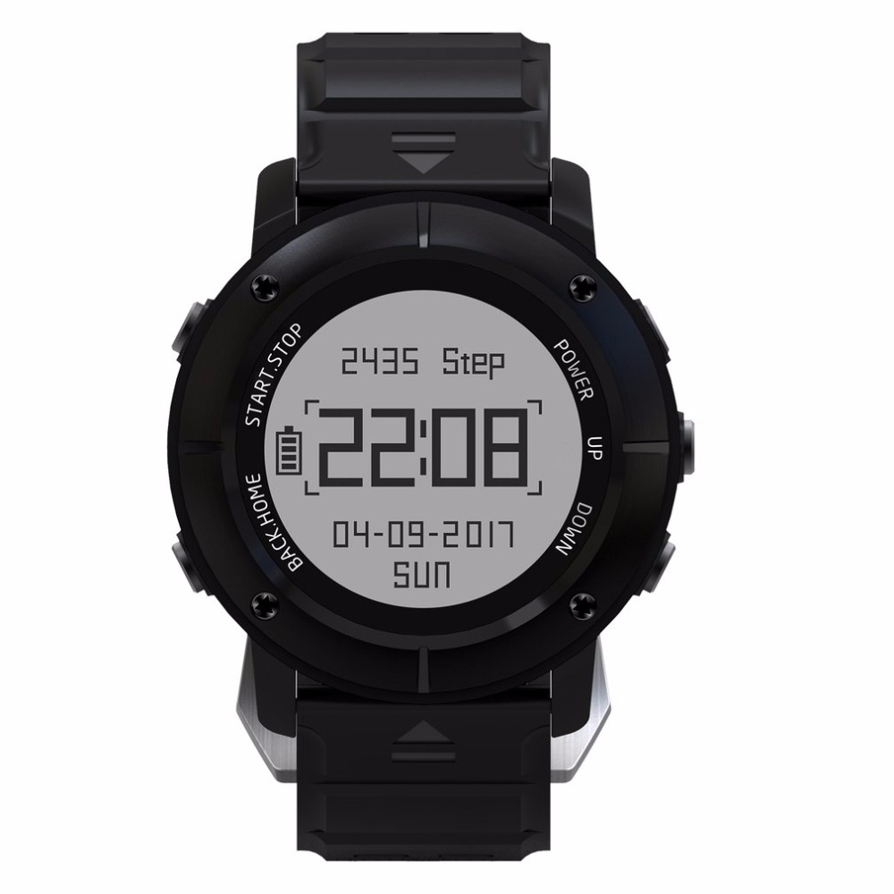 UW80 GPS Montre Smart Watch hommes SOS Thermomètre Manomètre Sport Moniteur de Fréquence Cardiaque Bluetooth Podomètre Smartwatch reloj relogio