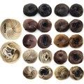 Высокая Qually Вьющиеся Волосы Макияж Хвост Синтетических Булочка Шиньон Коготь на Ponytail Парики Жаропрочных Расширение Инструменты Для Укладки
