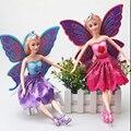30 cm Meu pequeno bonito presente Flor de Fadas Da Princesa meninas iluminação pvc figuras de ação boneca de brinquedo para crianças