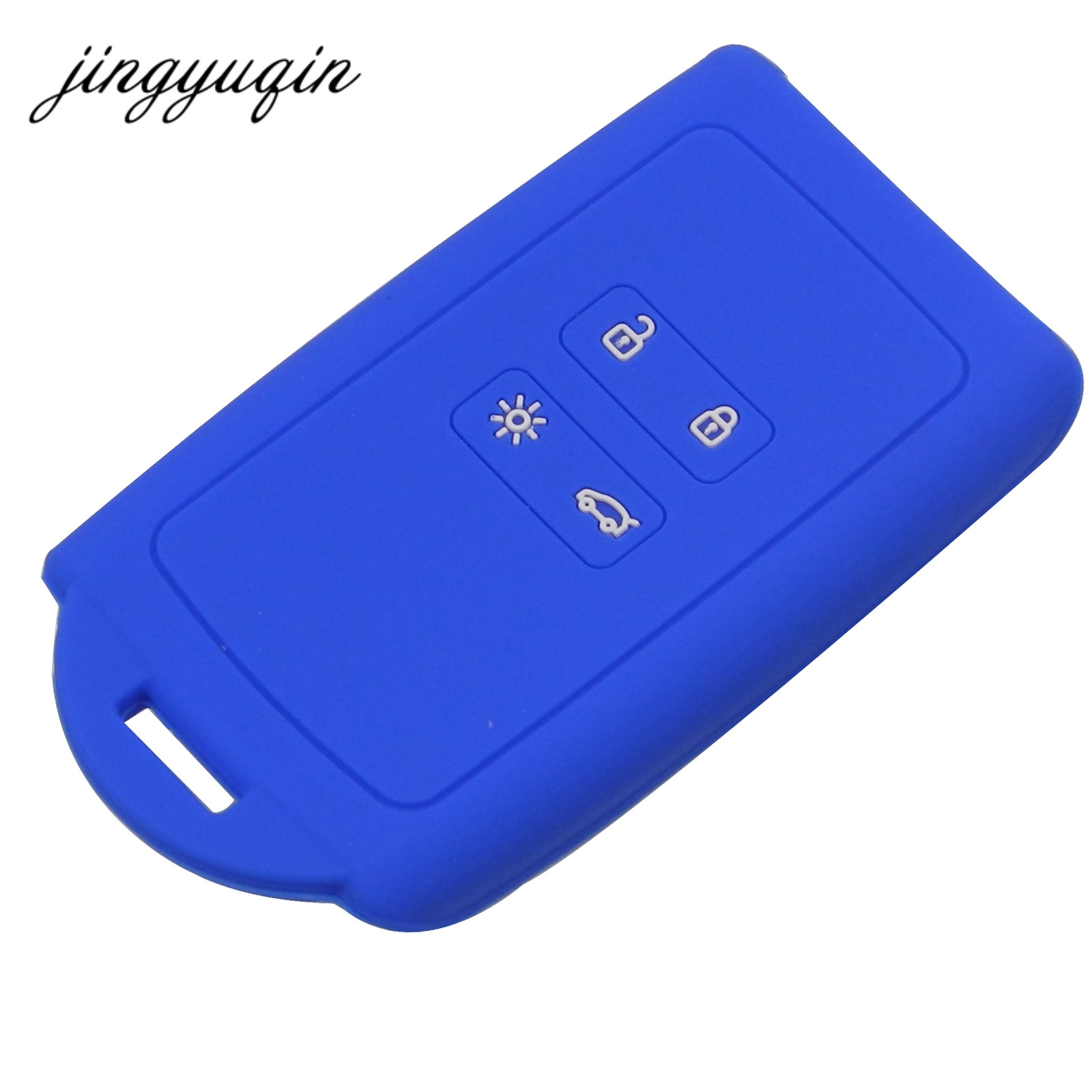 Image 3 - jingyuqin Silicone key fob cover case holder For Renault Koleos Kadjar Megan 2016 2017 card remote keyless-in Key Case for Car from Automobiles & Motorcycles