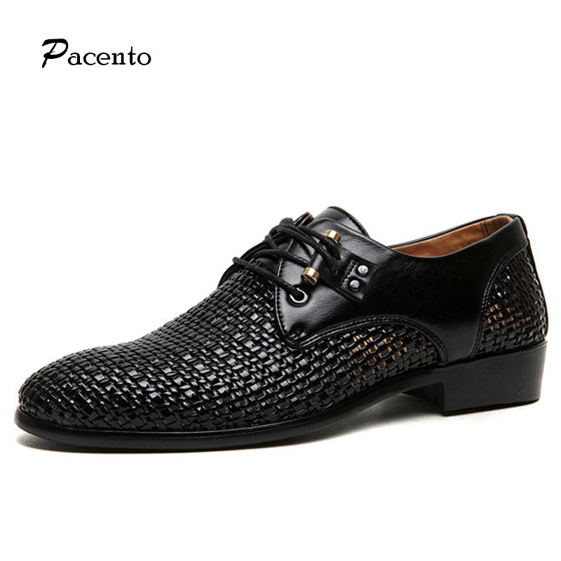 PACENTO 2017 Shoes Men Genuine Leather Summer British Shoes Casual Hollow Breathable Lace-up Shoes Men Loafers Chaussure Homme dxkzmcm men casual shoes lace up cow leather men flats shoes breathable dress oxford shoes for men chaussure homme