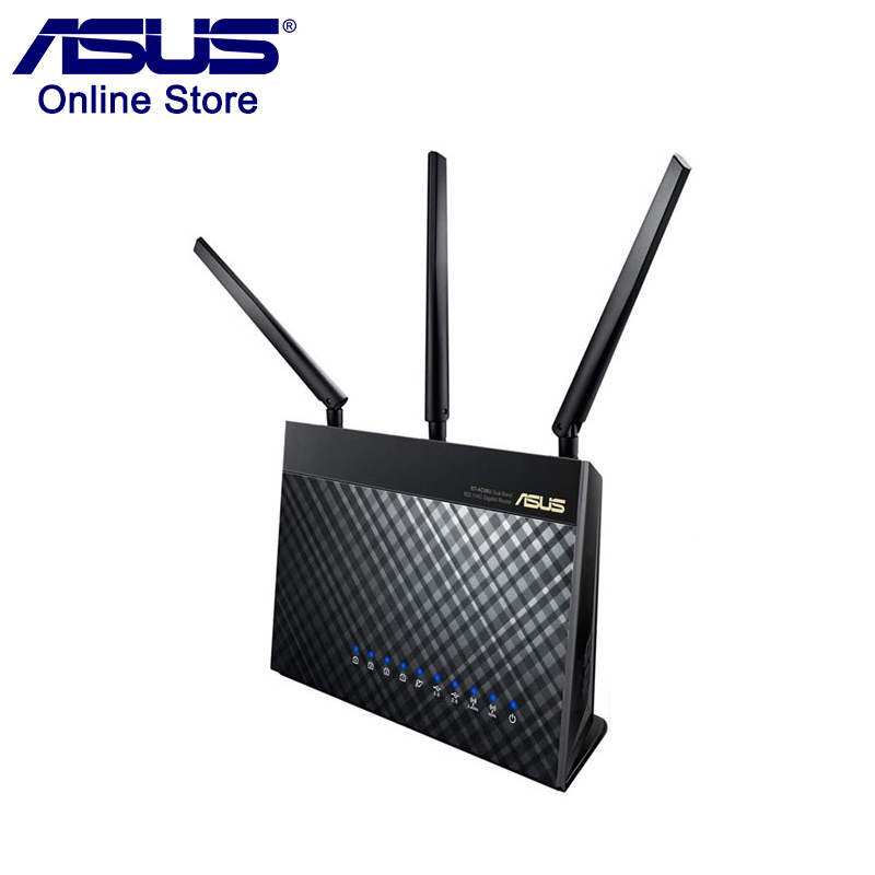 Original ASUS RT AC68U AC1900 Wireless Router 1300Mbps 600Mbps WIFI 802 11ac WIFI Router MU MIMO