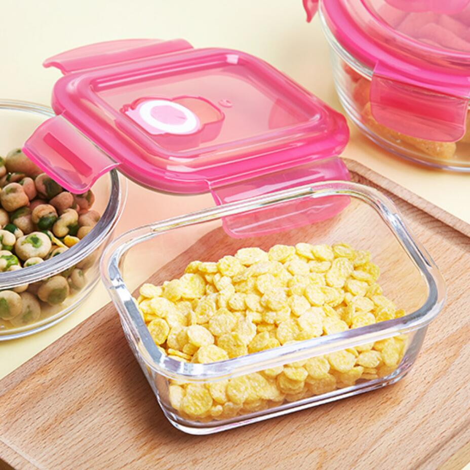 Aliexpresscom Buy Glass Lunch Boxes Microwabable Leakproof Bento