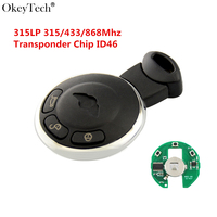 Okeytech Replacement 3 Buttons Remote Key For BMW MiNi Cooper Smart Car Key 315LP 315 433