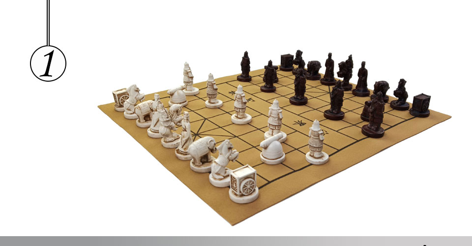 Easytoday Chinese Chess Games Set High-quality Synthetic Leather Chessboard Traditional Retro Chinese Table Entertainment Games Gift (1)
