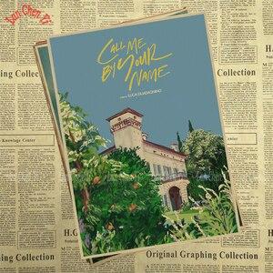 Image 2 - Call Me by Your Name Kraft Paper adornos de pared de papel, carteles para el hogar, Bar, decoración del hogar, regalo, decoración de pared para el hogar, pegatina
