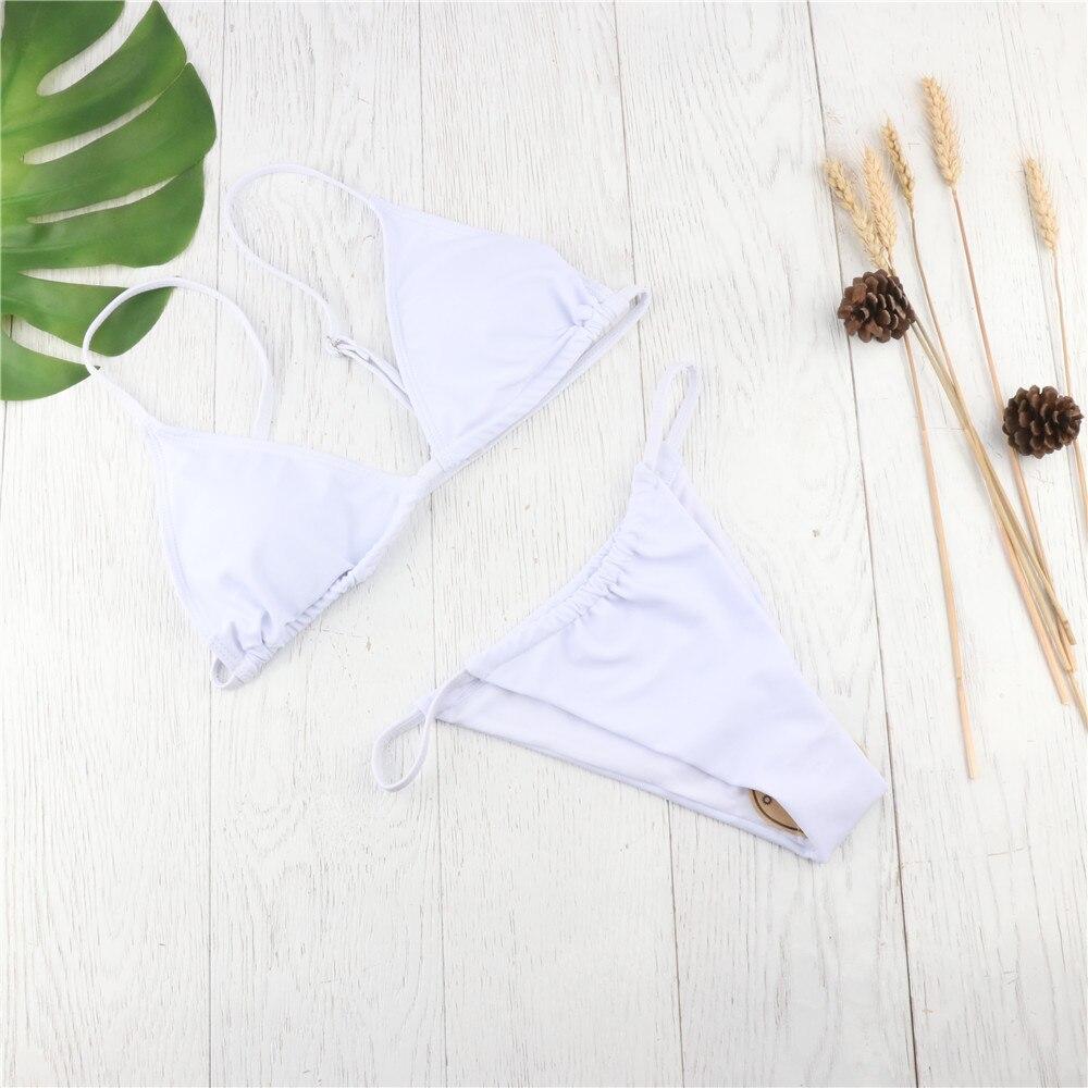 Hirigin Thong Bikini 2019 Women Bequini Swimwear Summer Bathing Suit Push Up Padded Swimsuit Sexy Monokini Support Resell