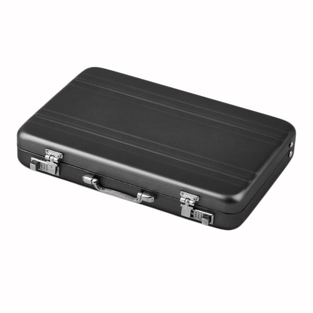 Mini Briefcase Business Card Case ID Holders Password Aluminium ...