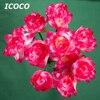 ICOCO 10pcs Set Waterproof Design Electric Floor Light Beautiful Flower Lotus Shape Underground Light For Garden