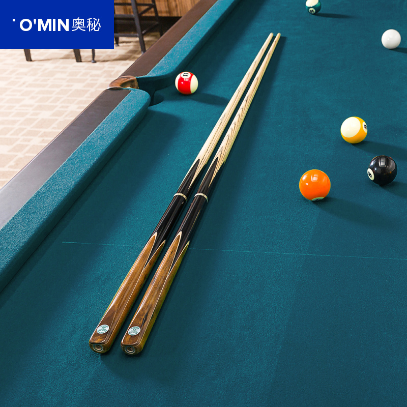2017 Handmade 3 4 Jointed Snooker Cues Sticks With 3 4 Cue Case Set 9.8-10mm Tips Tacos De Snooker China