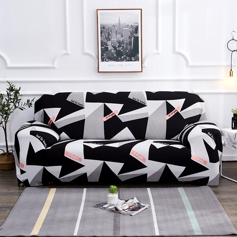 Black White Grey 1 2 3 4 Seater Sofa Cover Tight Wrap All Inclusive