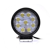 1pc LED Car Super Bright External Headlight 27W 2700LM 12 24V Motorcycle Fog DRL Headlamp Spotlight