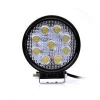 1pc LED Car Super Bright External Headlight 27W 2700LM 12 24V Motorcycle Fog DRL Headlamp Spotlight