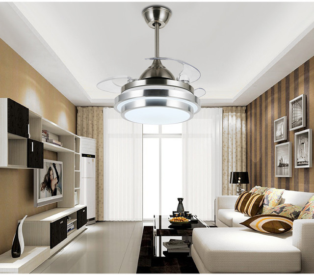 Plafond ventilator verlichting onzichtbare plafond ventilator licht ...