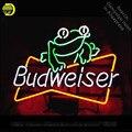 Неоновая вывеска для Budweise Frog неоновая лампа вывеска гаражный неоновый свет вывеска стеклянная трубка ручная работа искусство знаковая выв...