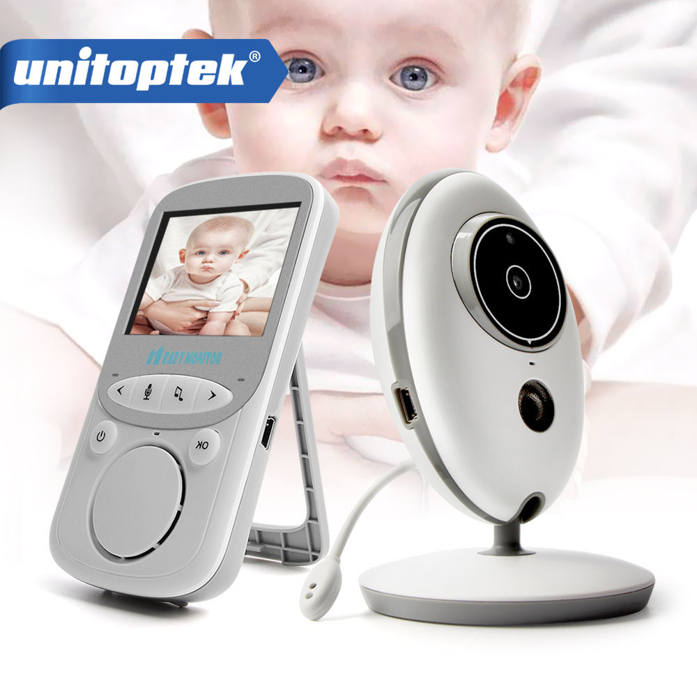 2.4 Inch 2.4GHz Wireless Video Baby Monitor Color Camera Intercom Audio Night Vision Temperature Monitoring Babysitter Nanny