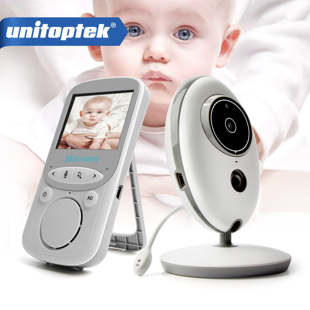 2.4 Inch 2.4GHz Wireless Video Baby Monitor Color Camera Intercom Audio Night Vision Temperature Monitoring Babysitter Nanny