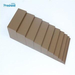 Монтессори мини коричневая ширина лестницы от 0,5 см до 5 см для дошкольного образования и дошкольной подготовки