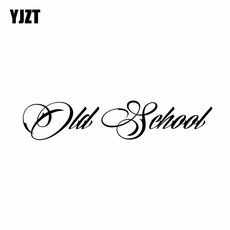 YJZT 14.6CM*3.1CM Old School Personaily Vinyl Decal Decorate Car Sticker Black Silver C10-01102