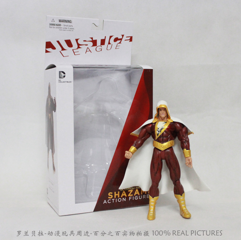 все цены на  Free Shipping DC Comics The New 52 Comic Shazam PVC Action Figure Collection Toy HRFG146  онлайн