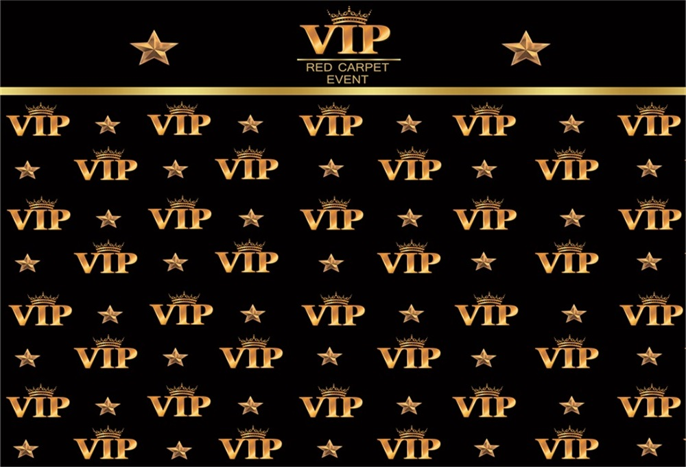 Laeacco Crowns VIP Birthday Party Photocall Wedding Scene Photography Backgrounds Custom Backdrops For Photo Studio