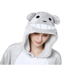 Animal Totoro Kigurumi Onesie Adult Pajamas For Women Flannel One-piece  Sleepwear Unisex Jumpsuit Men Pokemon Pyjamas Onesie ab0af2f64