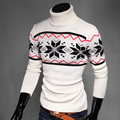 2016 spring New fashion Turtleneck pullover Print Design Men's Pullover Men Sweaters Brand Fashion Cotton Slim Man Sweater MQ22