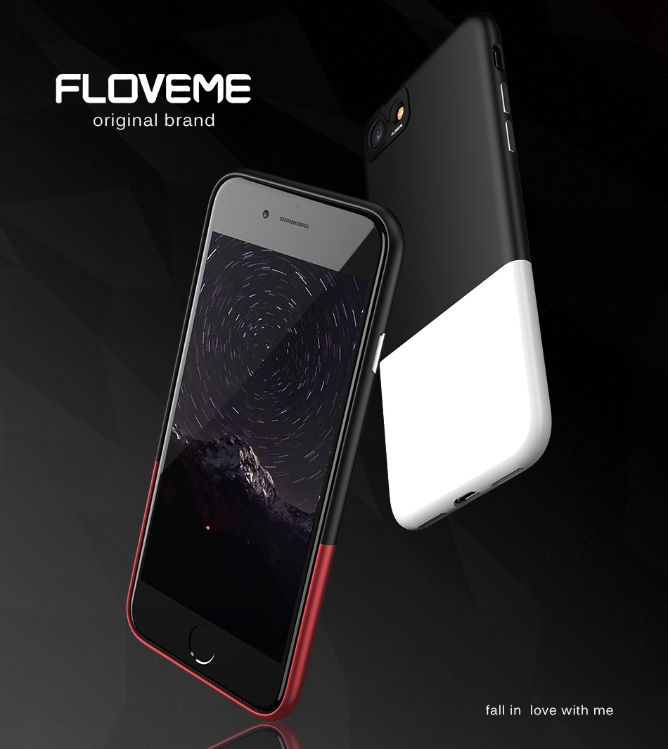 FLOVEME Fashion Contrast Hybrid Phone Cases For iPhone 6 7 6S Plus Higher Camera Protection Hard Hit Color Cover For iPhone 6 7 (2)
