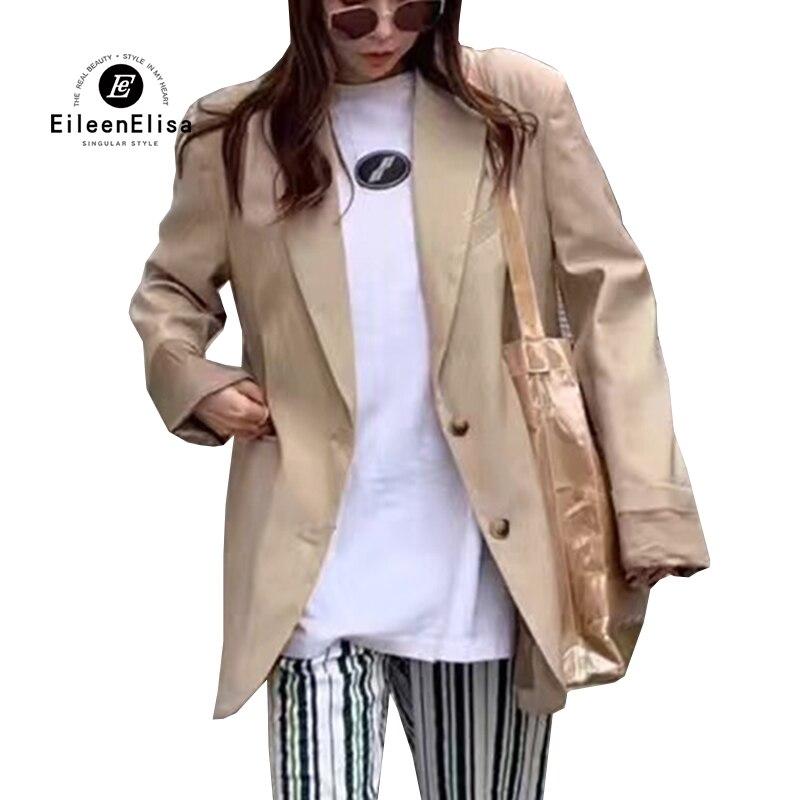 Autumn Khaki   Jacket   Women Coat Korean   Jacket   Office Lady Long sleeve   Basic     Jacket   Female