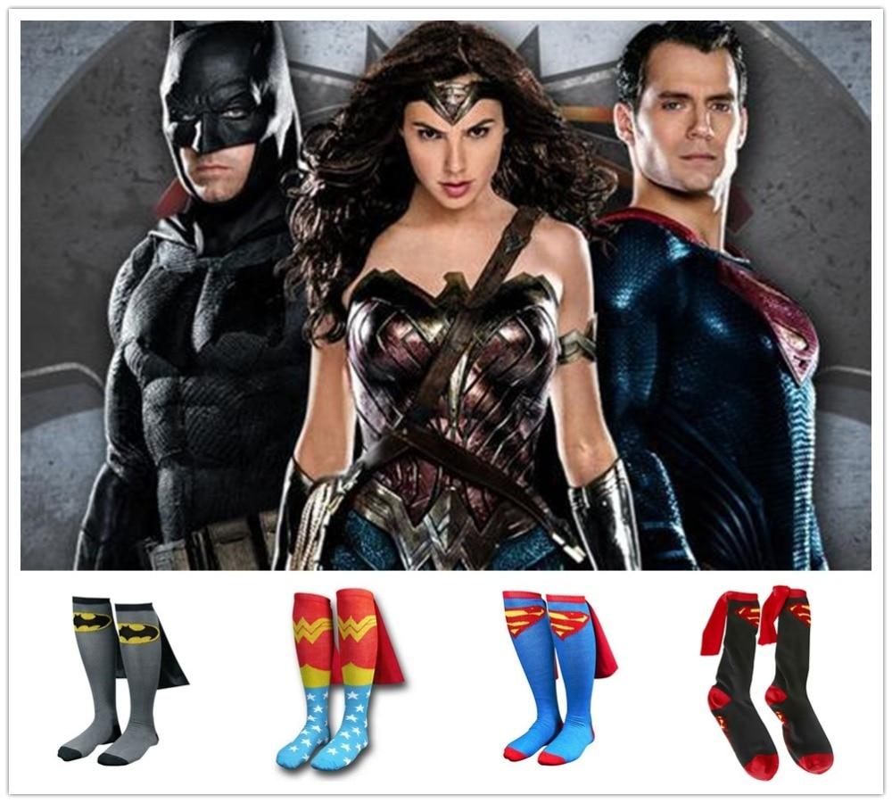 Marvel movie men/women stockings Avengers Wonder Woman superman batman cosplay Party Halloween unisex adult anime   socks  .