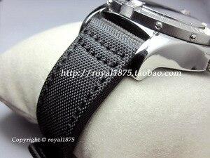 Erkekler siyah naylon saat kayışı kayışı 20mm 22mm paslanmaz çelik toka watch bilezik naylon deri kayış Omega IWC seiko izle