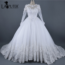 LAIPUTER Ball Gown Wedding Dress 2017 Long Sleeve Dresses