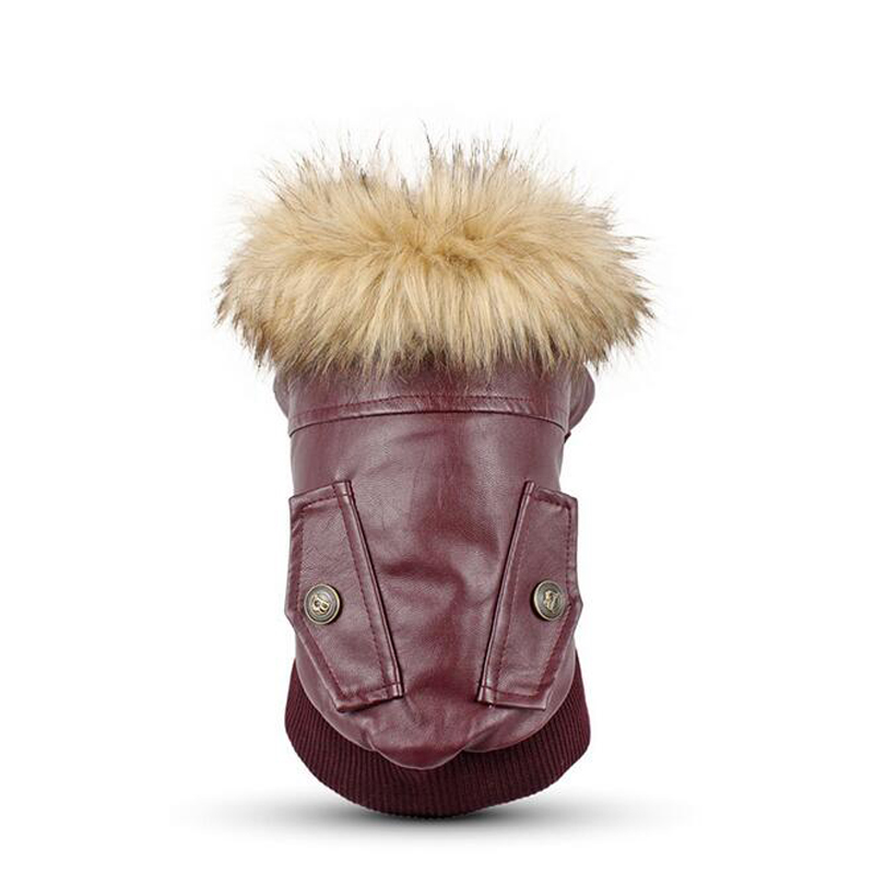 Pet Dog Warming Leather Clothes Winter Autumn Dog Padded Coat Jacket Thermal Pets Small Large Dogs Clothes