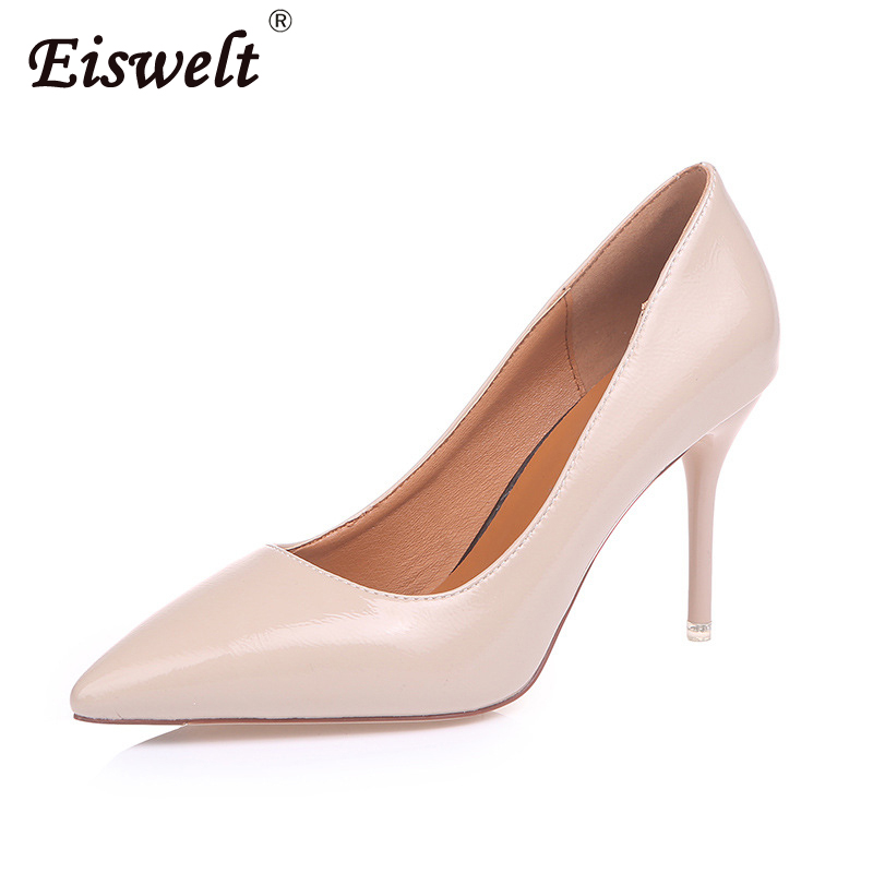 EISWELT Shoes Woman High Heels Pumps Nude High Heels Women Shoes High Heels Wedding Shoes Pumps Black Nude Shoes Heels Fashion woman sexy high heels pumps large size 34 43 femme high heels scarpin wedding bridal shoes nude heels elegant women office pumps