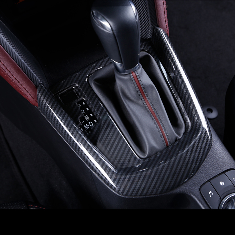 JY Carbon Fiber Style ABS Shift Gear Panel Cover Car Styling Accessories For MAZDA CX-3 2015-2018 abs carbon style decoration gear shift box panel cover trim car styling accessories for mazda cx 5 cx5 2nd gen 2017 2018