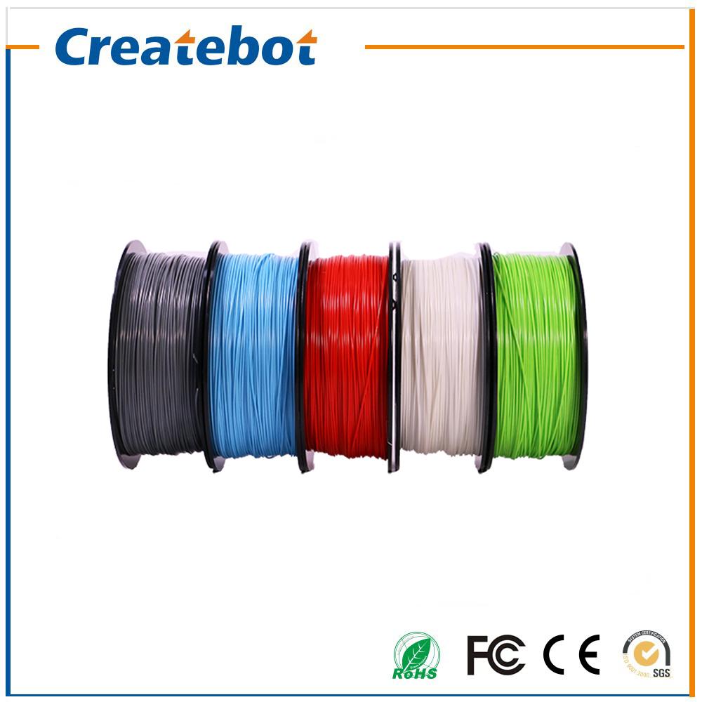 Prix pour 17 Couleurs 3D Filaments D'imprimante ABS en plastique Consommables Matériel, CE/FCC/ISO/ROHS certifié, 1.75/3mm En Option