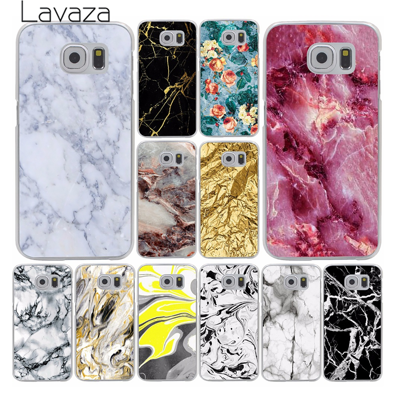 105C- Marble Texture Hrad Style Case Cover for Samsung Galaxy S5 S4 S3 I9600 I9500 I9300 1PC