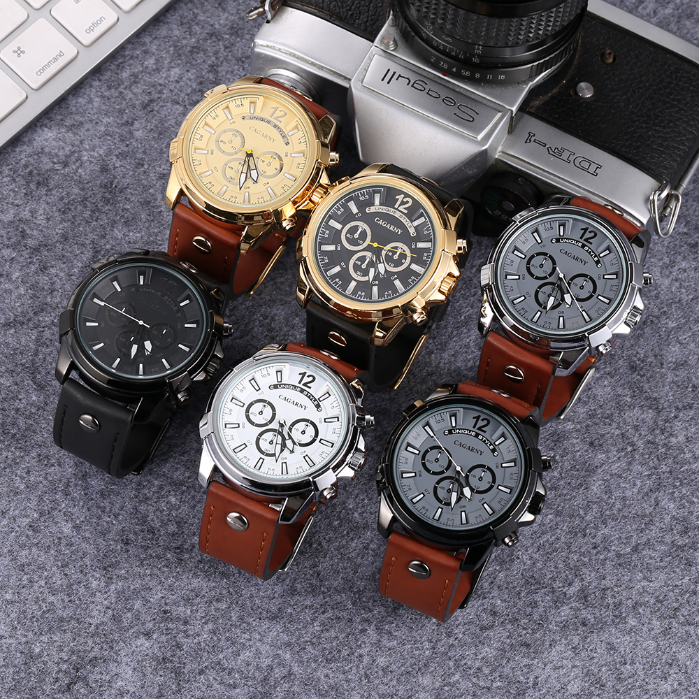 cool big case watch men golden analog quartz mens watches military style watch man free shipping dz watches wholesale free shipping (2)