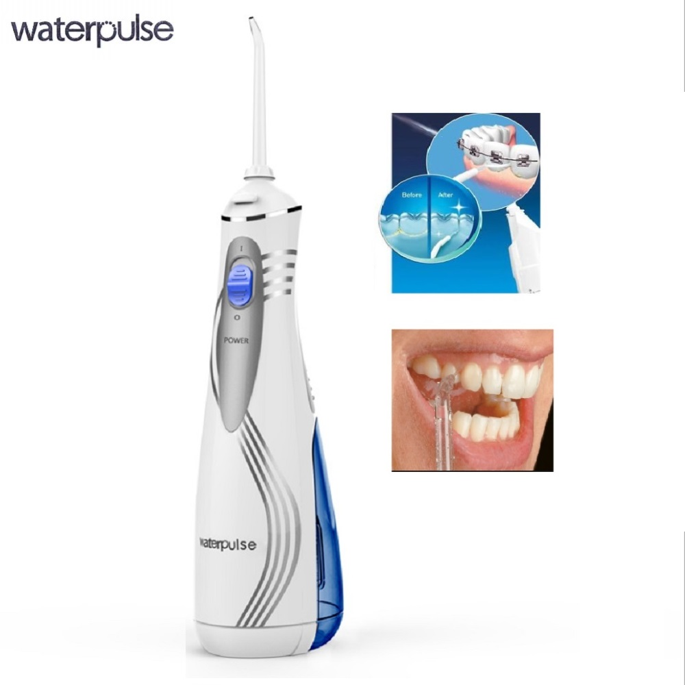 Electric Dental Water Flosser, Cordless, Portable and Rechargable Oral Irrigator with 3 Operation Modes and 4 Rotatable Jet Tips