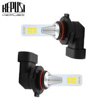 2×9006 HB4 Светодиодный лампа для автомобиля Мотор противотуманная фара для грузовиков 3030 12SMD дальнего света дневного света светодиодный лампы 12V 24V для автомобилей Белый 12 Вт