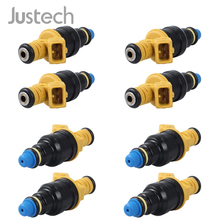 Justech 8 Matched Fuel Injectors For Ford F150 F250 F350 93-03 5.0 5.8 4.6 5.4 0280150943 O-ring Repair Kits EV1 Fuel Injector цена
