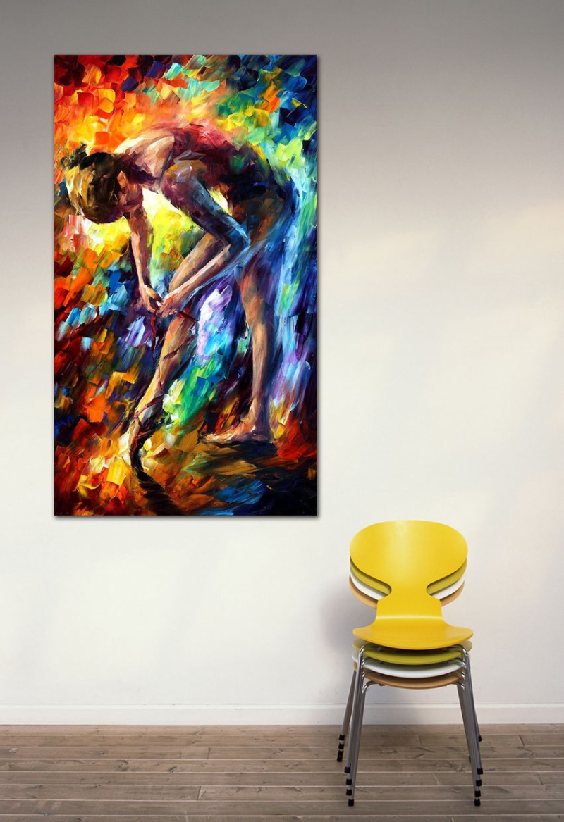 100% Handgeschilderd Ballerina Canvas Schilderij Moderne ...